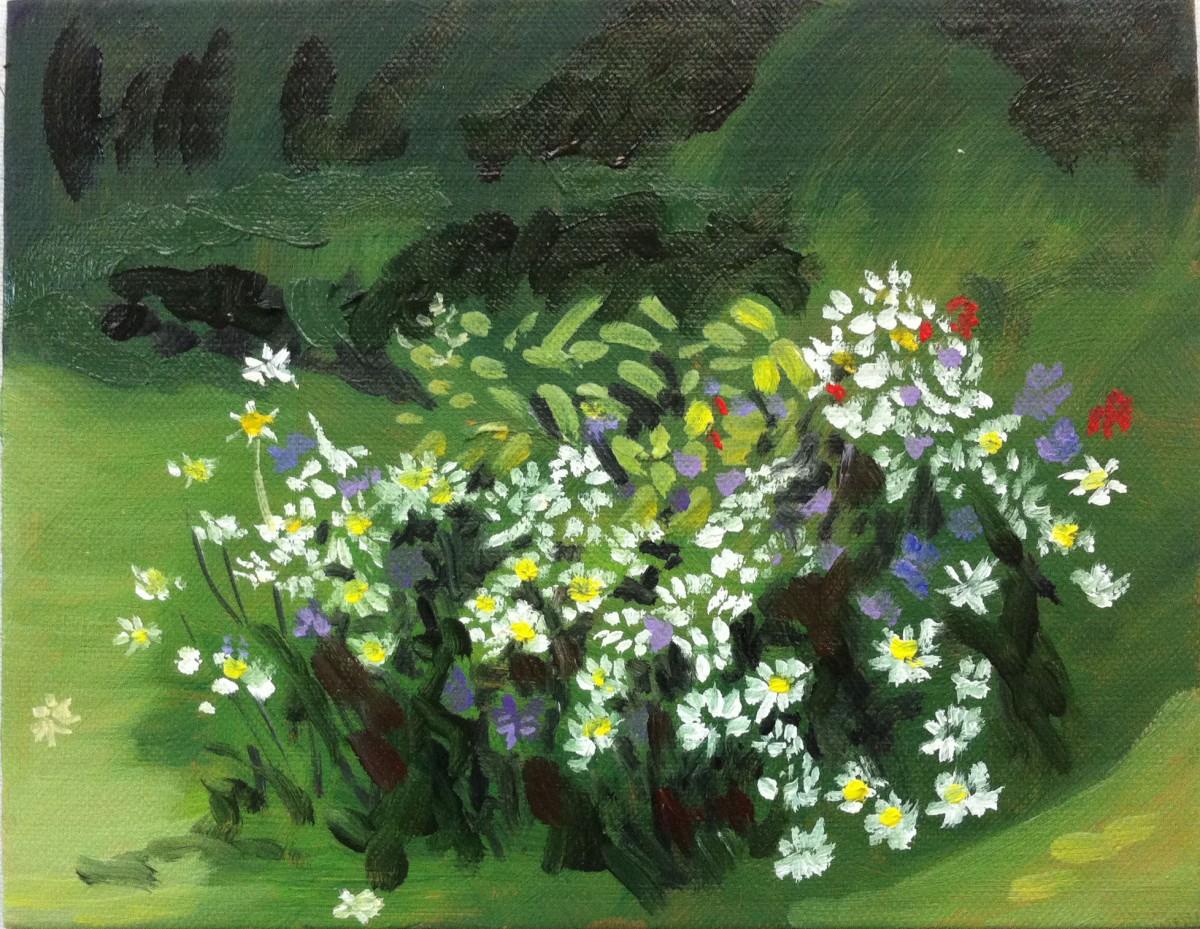 fleurs blanches 2016 18x24