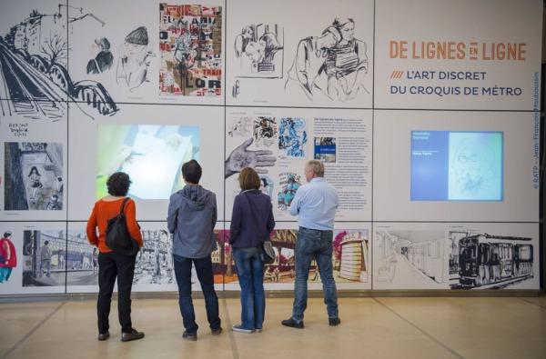 """EXPOSITION """"DE LIGNES EN LIGNE, L'ART DISCRET DU CROQUIS DE METR"""