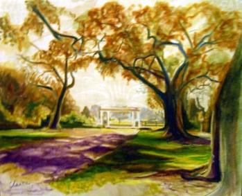 Oak alley plantation au bout de l'allée