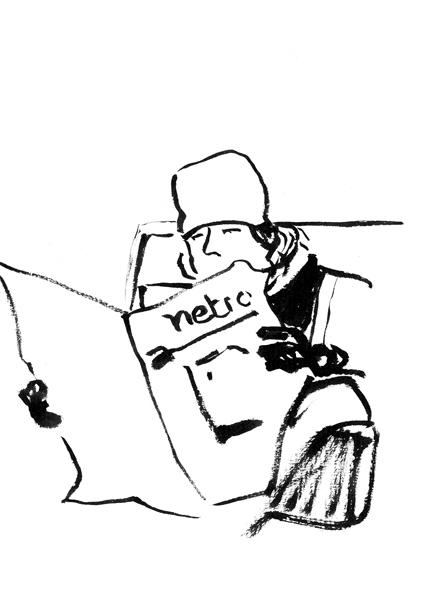 12_Le lecteur du me¦ütro