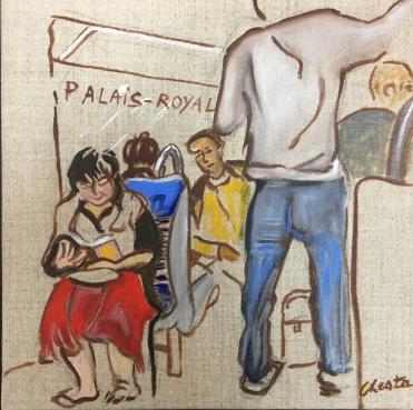 numart Chesta, La lectrice du Métro, Palais-Royal