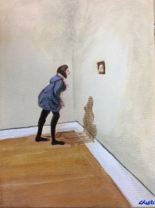 Aimantée, 18x14 Acrylique sur toile