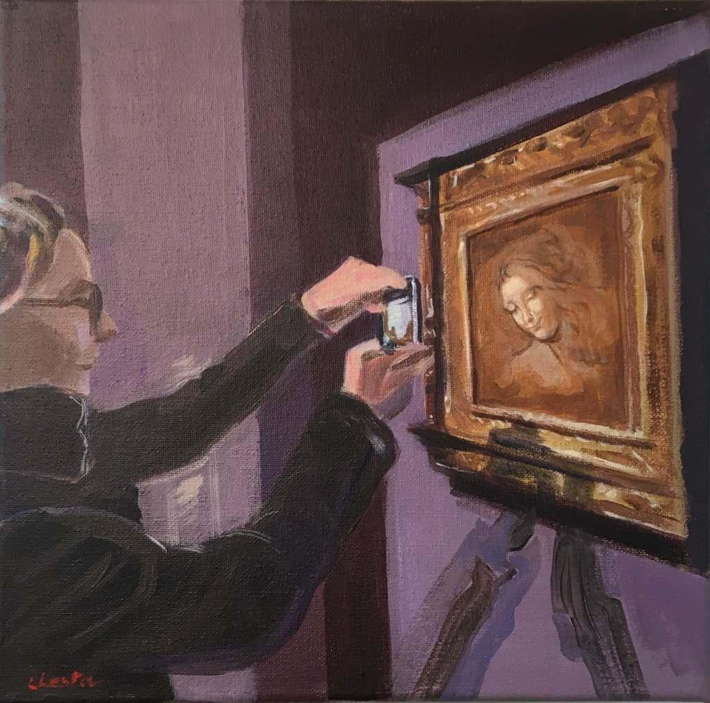 Les Regardeurs Jacqueline Chesta peinture