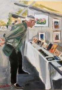 Francis regarde, Les Regardeurs Jacqueline Chesta peinture